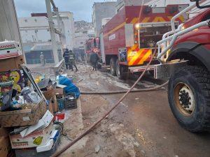 اندلاع حريق مهول بسوق الثلاثاء بالحسيمة